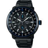 WIRED SOLIDITY 復古軍用200米日曆手錶-鍍黑/44mm VH67-KHC0SD(AY8036X1)