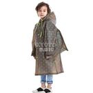 快速出貨兒童雨衣幼兒園寶寶小孩學生加厚男童女童防水雨披帶書包位