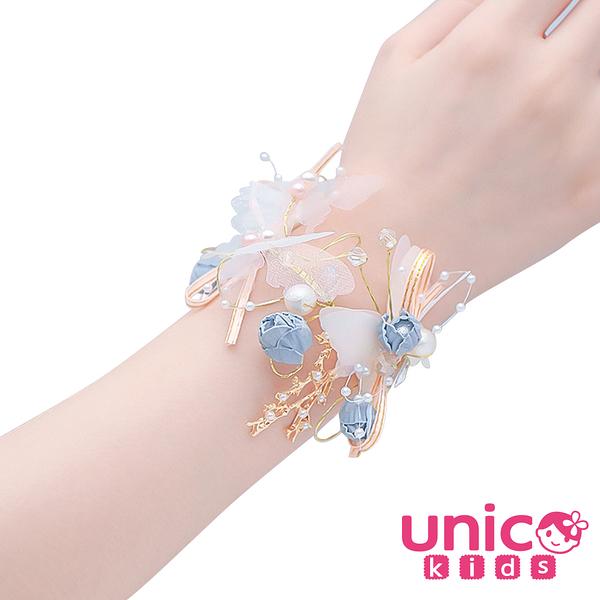 UNICO 甜美夢幻婚禮新娘小花童花仙子系列手腕花環/手環