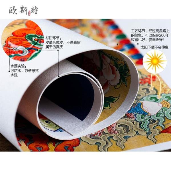 尼泊爾西藏佛教用品棉布裝裱掛畫皮質畫心裝飾畫千手