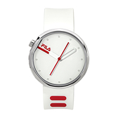 【FILA 斐樂】月蝕系列極簡風設計腕錶-亮眼紅/38-161-104/台灣總代理公司貨享兩年保固