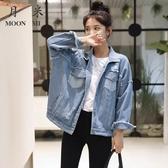 牛仔外套女寬鬆2019新款韓版秋季學生bf短款流行破洞百搭夾克上衣