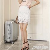 鏤空蕾絲半身裙一步裙新款春夏a字短裙蕾絲包臀裙 時尚芭莎