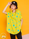 【2%】  Monster聯名款圈圈圖案造型上衣-黃