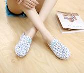橡膠拖鞋坡跟包頭碎花防滑戶外涼拖鞋洞洞鞋沙灘鞋女 moon衣櫥
