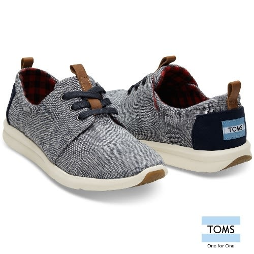 TOMS 丹寧混紡織紋休閒鞋-女款(10008891 CHAMBRAY)