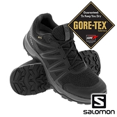 【SALOMON 法國】男 WARRA GTX 低筒登山鞋『黑/黑/烏木黑』41231400 越野鞋.健行鞋.戶外.露營