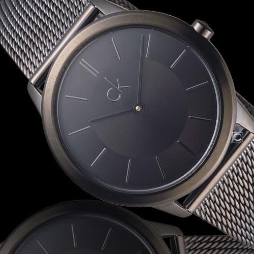 CK Calvin Klein Minimal 俐落米蘭時尚腕錶 K3M224B1 黑(35mm)
