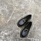 娃娃鞋ULZZANG春秋日系原宿軟妹少女愛心搭扣低跟學生圓頭小皮鞋娃娃鞋 時尚新品