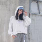 DADA SUPREME 率性泡泡袖帽T-女-白