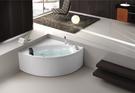 【麗室衛浴】BATHTUB WORLD  YG8555 壓克力扇形造型缸 含前牆 125*125*58CM