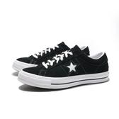 CONVERSE ONE STAR OX 黑 白 帆布鞋 麂皮 低筒 經典款 男女 (布魯克林) 158369C