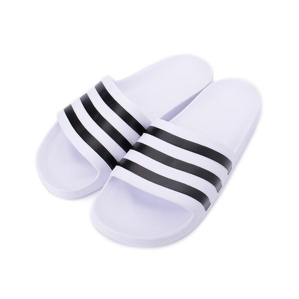 ADIDAS ADILETTE AQUA 運動拖鞋 白黑 F35539 男鞋 鞋全家福