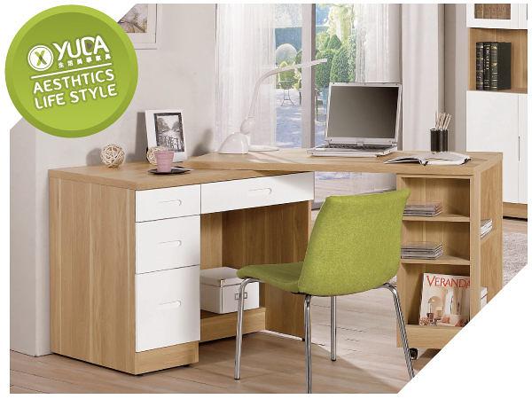 書桌【YUDA】羅德尼 4尺 實木 鋼印設計 優麗坦 多功能 旋轉桌 寫字桌/工作桌(不含椅) J9M 887-4