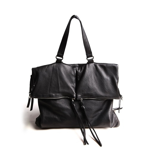 真皮手提包-多用途黑色羊皮薄款女後背包73xy25[巴黎精品]
