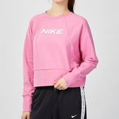 Nike Dry Trainng 女子 粉色 短版 素面 長袖 休閒 T恤 CQ9306-693