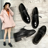 小香風小皮鞋女秋冬季加絨軟皮jk英倫風粗跟2020新款百搭日系單鞋 【雙十一狂歡購】