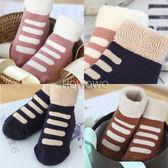 加厚款寶寶襪 條紋防滑短襪 嬰兒襪 童襪(0-4歲) CA1710 好娃娃