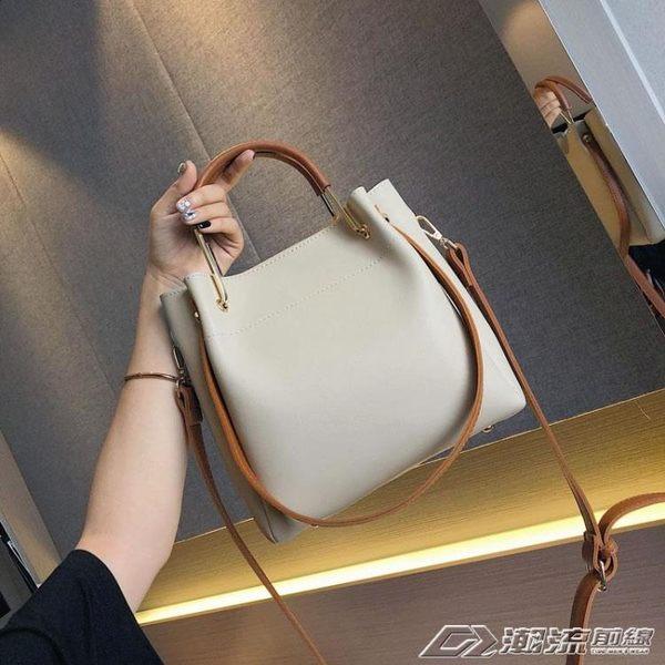 水桶包包女新款潮韓版百搭斜背包簡約時尚單肩包大容量手提包  潮流前線
