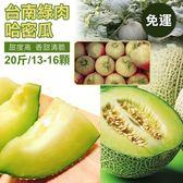 【SHOW BEST嚴選】台南哈密瓜(綠肉) 20斤/ 13-16顆(淨重) ~下單4天內冷藏出貨 免運