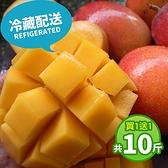 買一送一【冷藏配送 - 屏聚美食】產地嚴選優質愛文芒果5斤裝(10-13顆)(加贈5斤,共10斤)