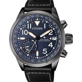 加碼第3年保固*CITIZEN 星辰 限量GPS衛星對時光動能手錶-藍x黑/44mm CC3067-11L