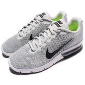 【五折特賣】Nike 慢跑鞋 Wmns Air Max Sequent 2 灰 黑 白底 氣墊 編織雪花鞋面 女鞋【PUMP306】 852465-001