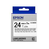 【高士資訊】EPSON 24mm LK-6WBVN 耐久型 白底黑字 原廠 盒裝 防水 標籤帶