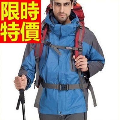 登山外套-防風防水透氣保暖男滑雪夾克62y18[時尚巴黎]