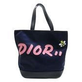 Dior 迪奧 藍色牛皮帆布DIOR HOMME&CAWS聯名手提肩背包 【BRAND OFF】