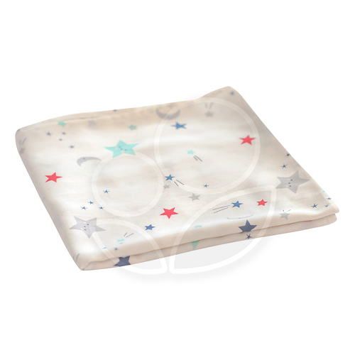 tiny twinkle - Swaddle Blanket Single 紗布巾(星星)TT-1125【佳兒園婦幼館】