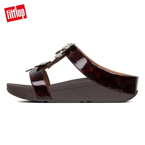 精選新降【FitFlop】FINO DRAGONFLY H-SLIDES H型設計涼鞋-女(巧克力棕)