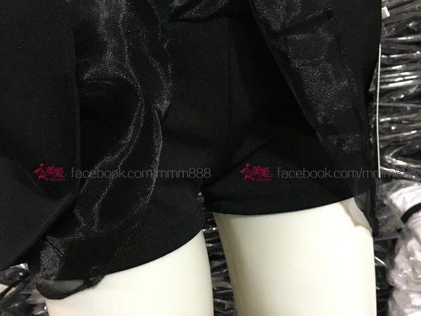 韓版甜美半身裙 防走光 紡紗高腰蓬蓬裙 小黑短A字裙 百搭款短裙