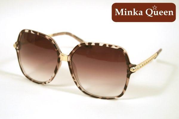 Minka Queen 經典咖啡豹紋框(抗UV400)時尚百搭太陽眼鏡