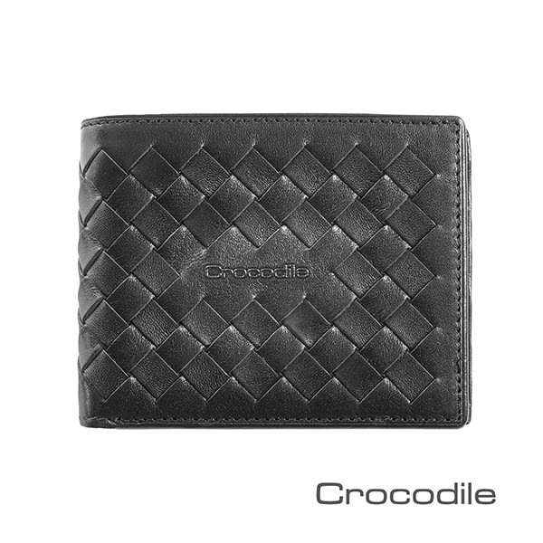 Crocodile 義大利植鞣製皮 Natural x Woven 編織短夾/皮夾 0103-07304