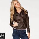 真皮皮衣【GIPSY】Chelsey條紋肩飾復古刷色皮衣