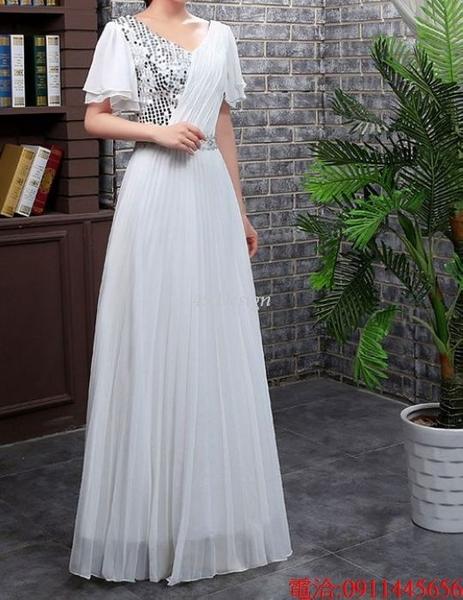 (45 Design)  7天到貨 長禮服伴娘禮服 結婚晚禮服姐妹裙長版禮服 韓式 洋裝 新娘敬酒服 連身裙6