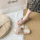 配裙子兩穿涼鞋仙女風2020年新款夏季百搭ins潮網紅平底沙灘鞋子