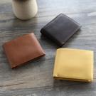 【Solomon 原創設計皮件】手作皮革短夾 零錢包 牛皮短夾  有零錢袋