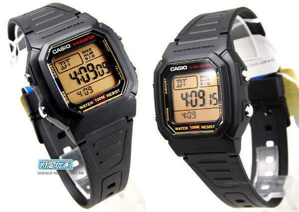 CASIO卡西歐 W-800HG-9A 計時/鬧鈴/第二時間 電子錶 方形 W-800HG-9AVDF