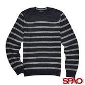 SPAO男款休閒條紋針織上衣-共2色