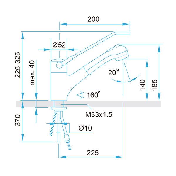 【歐雅系統家具】ARWA 瑞士頂級龍頭 39655-100-H 花灑伸縮龍頭