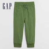 Gap男幼童 簡約風格鬆緊休閒長褲 694737-綠色