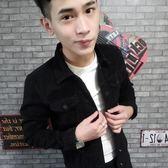 男士牛仔外套男韓版修身網紅夾克社會精神小伙上衣港風褂子潮