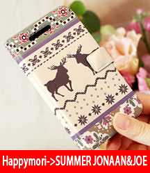 【韓國原裝 Happymori】※Deer Sweater※ 側開手機皮套 適用IPhone5 IPhone5S