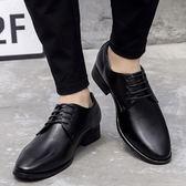 英倫時尚皮鞋 透氣平底防滑真皮休閒鞋《印象精品》q257