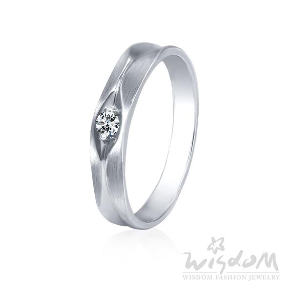 威世登 愛成雙-K金鑽石戒指-女戒 婚戒推薦 情人節禮物 DA03089G-AHXXX