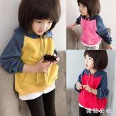 女童衛衣 2018新款韓版洋氣兒童長袖連帽上衣寬鬆套頭 JA3295『美鞋公社』