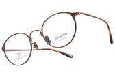 Go-Getter 光學眼鏡 GO3014 C03 (棕) β鈦系列休閒圓框款 # 金橘眼鏡