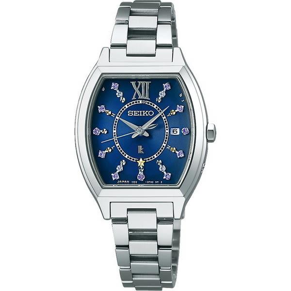 【台南 時代鐘錶 SEIKO】精工 LUKIA 太陽能電波腕錶 酒桶型限量款 SSVW111J@1B22-0BC0B 藍/銀